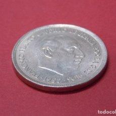 Monedas Franco: MONEDA 25 PESETAS - FRANCO - AÑO 1957, ESTRELLA 74 - EBC+, BRILLO ORIGINAL ... L210. Lote 173058030