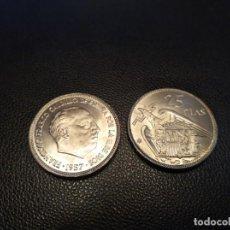 Monedas Franco: MONEDA DE 25 PESETAS 1957 ESTRELLA 65 *65 SIN CIRCULAR DE CARTUCHO. Lote 254037585