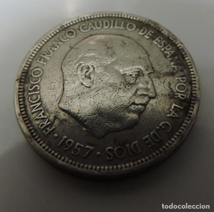 5 CINCO PESETAS FRANCO 1957 ESTRELLA 71 (Numismática - España Modernas y Contemporáneas - Estado Español)