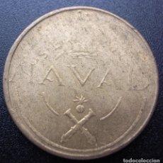 Monedas Franco: 1 PESETA NAVAL DE 1948 PRUEBA DE LAS MAQUINAS DE ACUÑAR POR TALLERES SAN CARLOS CADIZ. Lote 174009858