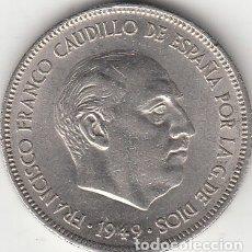 Monedas Franco: FRANCO: 5 PESETAS 1949 ESTRELLA 19 - 49. Lote 172839995