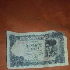 Monedas Franco: 2 ANTIGUO BILLETE ESPAÑOL DE 500 PTAS PESETAS AÑOS 1971 Y 1979.USADO. Lote 174342092