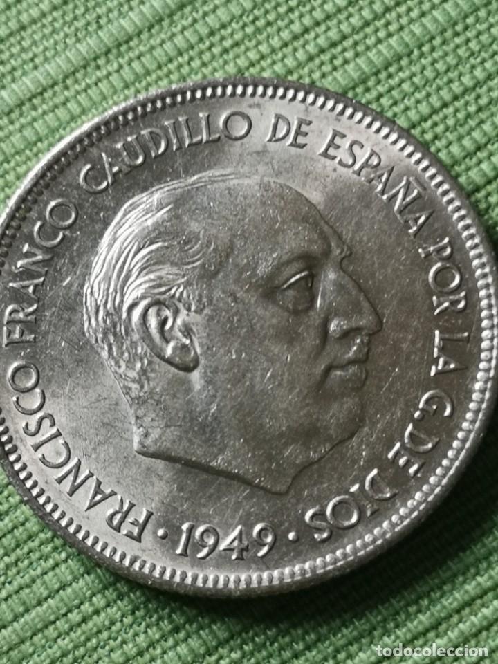 5 PESETAS 1949 ESTRELLA 49 (Numismática - España Modernas y Contemporáneas - Estado Español)