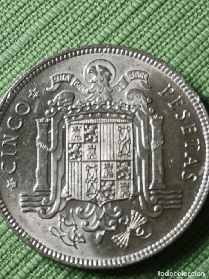 Monedas Franco: 5 pesetas 1949 estrella 49 - Foto 2 - 174580904