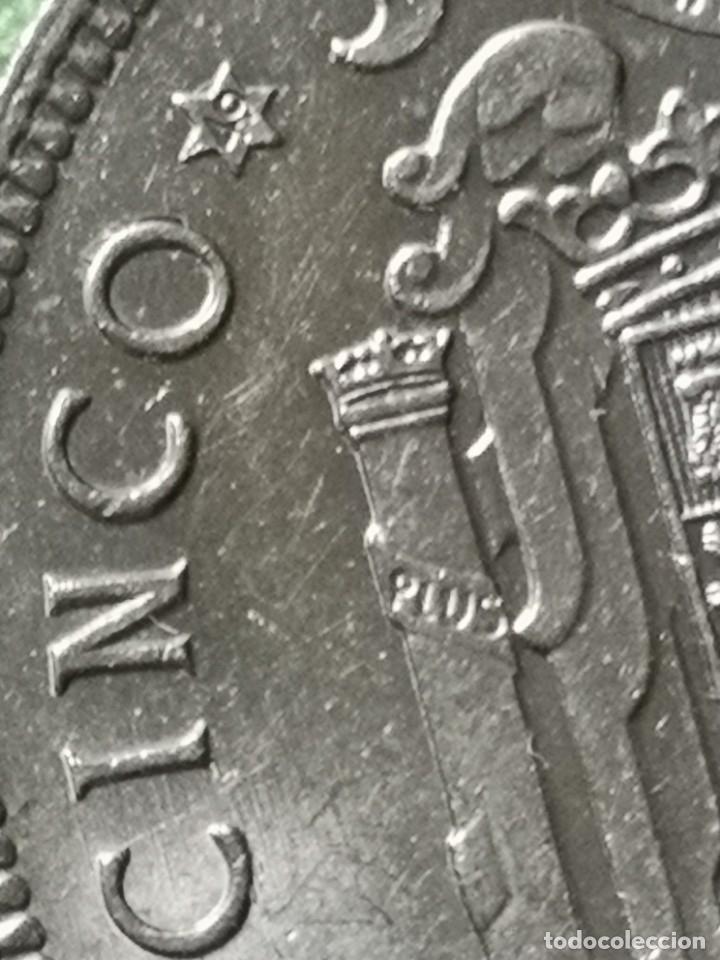 Monedas Franco: 5 pesetas 1949 estrella 49 - Foto 3 - 174580904