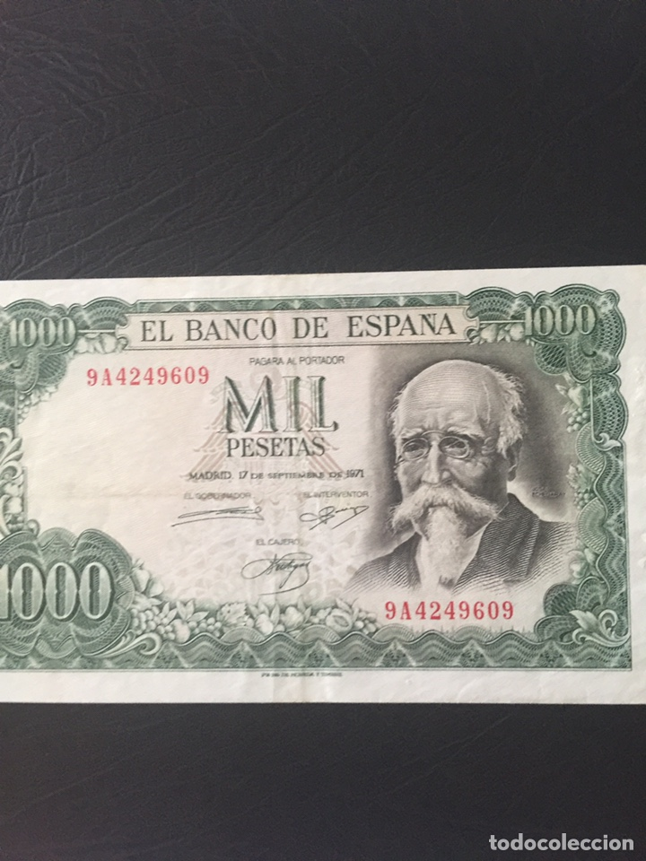 Monedas Franco: Billete de 1000 ptas Echegaray - Foto 2 - 174987643