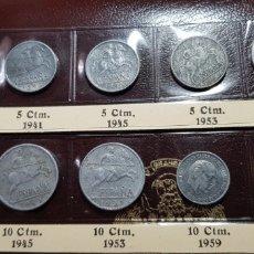 Monedas Franco: 5 CÉNTIMOS 1940-41-45-53; 10 CÉNTIMOS 1940-41-45-53 Y 1959; 25 CÉNTIMOS 1937 . Lote 175025868