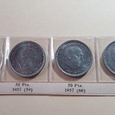 Monedas Franco: 50 PESETAS 1957 (*58-*59-*60 Y *67) S/C Y ECB. Lote 175026498