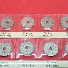 Monedas Franco: 50 CÉNTIMOS 1949(*51!-*51-52-*53-*54-*56-*62),INCLUYE 1951 FLECHAS ABAJO 1963(*63-*64-*65) TODAS. Lote 175979223