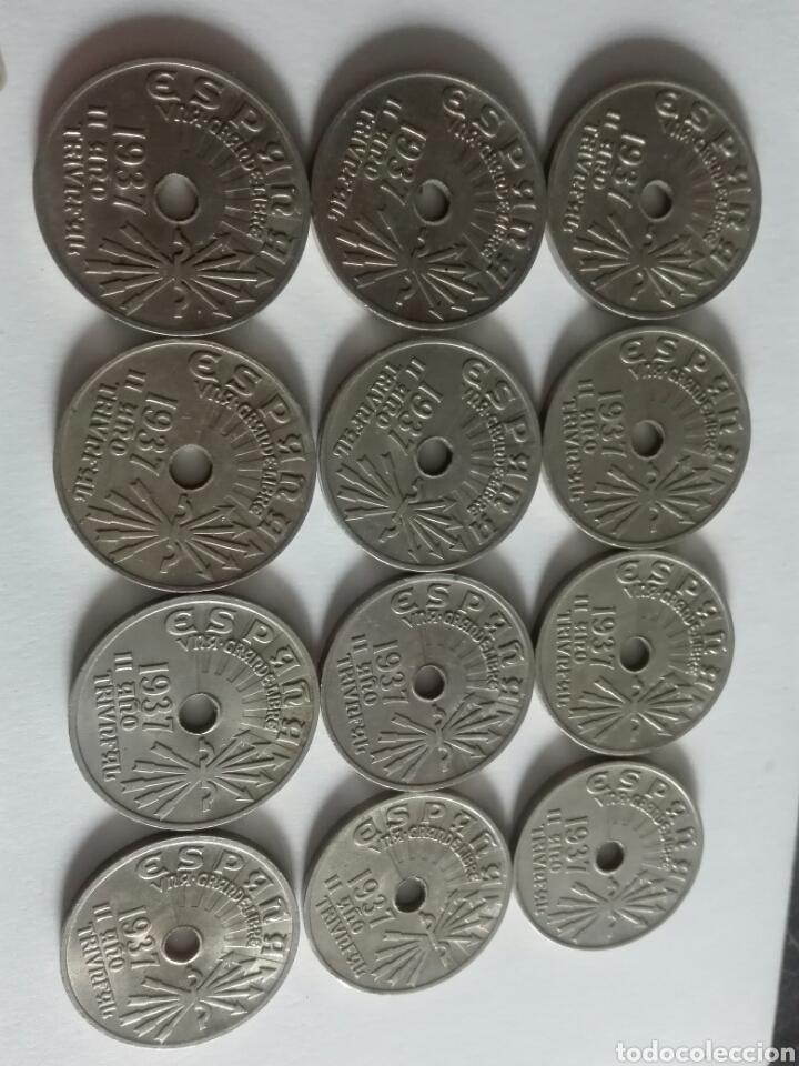 LOTE DE 12 REALES DE 1937 ÉPOCA FRANQUISTAEBC (Numismática - España Modernas y Contemporáneas - Estado Español)
