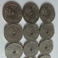 Monedas Franco: LOTE DE 12 REALES DE 1937 ÉPOCA FRANQUISTAEBC. Lote 176006385