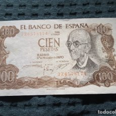 Monedas Franco: BILLETE 100 PESETAS 1970 CON ERROR. Lote 176097442