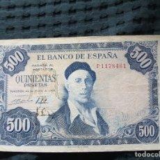Monedas Franco: BILLETE 500 PESETAS 1954. IGNACIO ZULOAGA. Lote 176098603