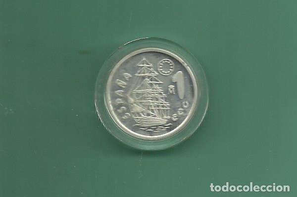 PLATA-ESPAÑA. 1 ECU 1996. HOMENAJE A LA MARINA. 6,72 GRAMOS DE LEY 0,925 (Numismática - España Modernas y Contemporáneas - Estado Español)