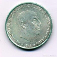 Monedas Franco: 100 PESETAS 1966 (*19-70) MADRID - SIN CIRCULAR. Lote 177092347