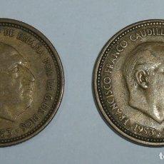 Monedas Franco: LOTE DE 2 MONEDAS DE 2,50 PESETAS 1953 - 19*54.. Lote 177525724