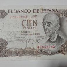 Monedas Franco: BILLETE ESPAÑA 100 PESETAS. 1970. Lote 177968278
