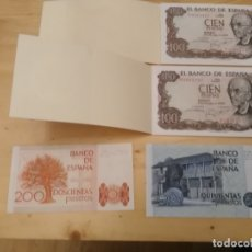 Monedas Franco: 100 PESETAS - 200 PESETAS - 500 PESETAS - LOTE BILLETES - BANCO IBERICO. Lote 177969287