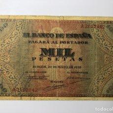 Monedas Franco: MIL (1000) PESETAS 20 MAYO 1938. Lote 178076117