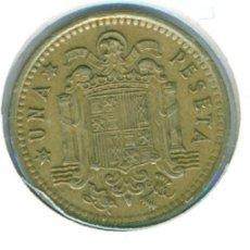Monedas Franco: ESPAÑA - ESTADO ESPAÑOL - FRANCO 1 PESETA 1966 * 70 ( MBC ) KM # 796. Lote 178076223