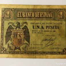 Monedas Franco: BILLETE 1 PESETA 28 DE FEBRERO 1938. Lote 178162298