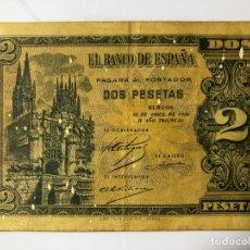 Monedas Franco: BILLETES DE 2 PESETAS 30 DE ABRIL DE 1938. Lote 178163093