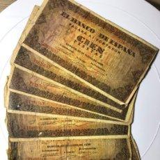 Monedas Franco: LOTE DE 7 BILLETES DE 100 PESETAS EMITIDO 20 MAYO DE 1938. Lote 178252080