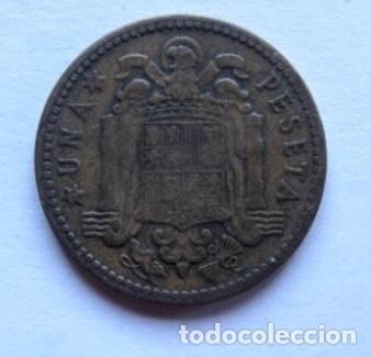 Monedas Franco: MONEDA DE 1 PESETA DE 1947, FRANCO. - Foto 2 - 178390271