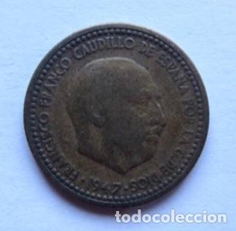 MONEDA DE 1 PESETA DE 1947, FRANCO. (Numismática - España Modernas y Contemporáneas - Estado Español)