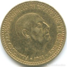 Monedas Franco: 1 PESETA FRANCISCO FRANCO 1966 CAUDILLO DICTADURA ESTRELLA *19*74 MONEDA CIRCULADA ESPAÑA. Lote 178628526