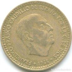 Monedas Franco: 1 PESETA FRANCISCO FRANCO 1966 CAUDILLO DICTADURA ESTRELLA *19*69 MONEDA CIRCULADA ESPAÑA. Lote 178628651