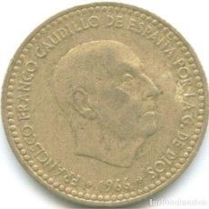 Monedas Franco: 1 PESETA FRANCISCO FRANCO 1966 CAUDILLO DICTADURA ESTRELLA *19*74 MONEDA CIRCULADA ESPAÑA. Lote 178628752