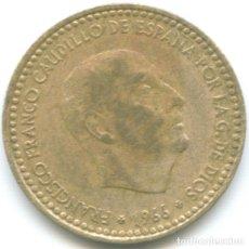 Monedas Franco: 1 PESETA FRANCISCO FRANCO 1966 CAUDILLO DICTADURA ESTRELLA *19*74 MONEDA CIRCULADA ESPAÑA. Lote 178628776