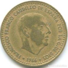 Monedas Franco: 1 PESETA FRANCISCO FRANCO 1966 CAUDILLO DICTADURA ESTRELLA *19*68 MONEDA CIRCULADA ESPAÑA. Lote 178628822