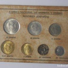 Monedas Franco: SERIE EN CARTON DE LA FNMT PARA COLECCIONISTAS, AÑO 1964, SIN CIRCULAR, CATALOGADO EN CAYON. Lote 178663578