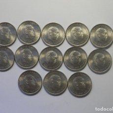 Monedas Franco: ESTADO ESPAÑOL, FRANCO, LOTE DE 13 MONEDAS DE 5 PESETAS, CABEZON, 1949*50, SIN CIRCULAR. Lote 178666817