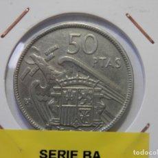 Monedas Franco: ESTADO ESPAÑOL, FRANCO, 50 PESETAS BA. EXPOSICION IBEROAMERICANA BARCELONA, . Lote 178667426