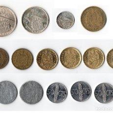 Monedas Franco: LOTE, COLECCIÓN DE 15 MONEDAS DE FRANCO AÑOS 1940... POR FAVOR, VER LAS FOTOS. GRACIAS... Lote 178877221