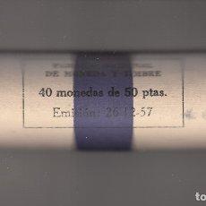 Monedas Franco: MONEDA FRANCO 50 PTA 1957*60 CARTUCHO FNMT DE 40 PIEZAS SIN CIRCULAR. Lote 178886493