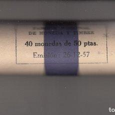 Monedas Franco: MONEDA FRANCO 50 PTA 1957*59 CARTUCHO FNMT DE 40 PIEZAS SIN CIRCULAR. Lote 178887176
