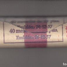 Monedas Franco: MONEDA FRANCO 25 PTA 1957*69 CARTUCHO FNMT 40 PIEZAS SIN CIRCULAR. Lote 178888048