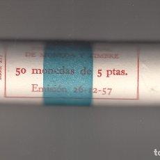 Monedas Franco: MONEDA FRANCO 5 PTA 1957*71 CARTUCHO FNMT 50 PIEZAS SIN CIRCULAR. Lote 178894797