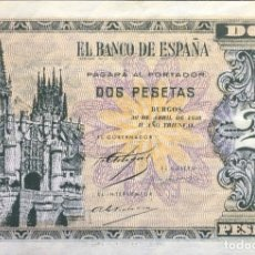 Monedas Franco: ESPAÑA BILLETE 2 PESETAS AÑO 1938. Lote 178928140
