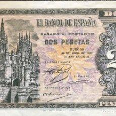 Monedas Franco: ESTADO ESPAÑOL BILLETE DE 2 PESETAS. Lote 178929642