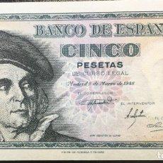 Monedas Franco: ESTADO ESPAÑOL BILLETE DE 5 PESETAS. Lote 178930163