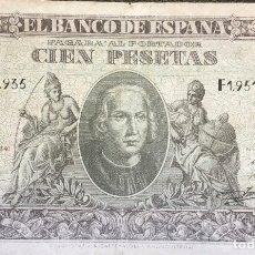 Monedas Franco: ESTADO ESPAÑOL BILLETE 100 PESETAS. Lote 178930785