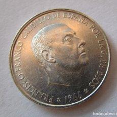 Monedas Franco: FRANCO . 100 PESETAS DE PLATA . ESTRELLAS PERFECTAS 19-67 . SIN CIRCULAR. Lote 179022940