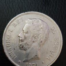 Monedas Franco: MONEDA 5 PESETAS AMADEO I DE ESPAÑA 1.871. Lote 179045537