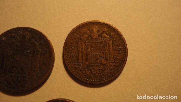 Monedas Franco: LOTE 5 MONEDAS DE 1 PESETA 1944 - Foto 5 - 179070752