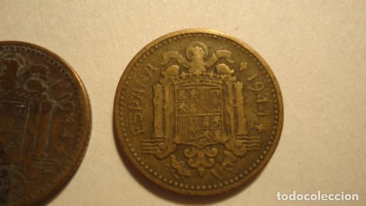 Monedas Franco: LOTE 5 MONEDAS DE 1 PESETA 1944 - Foto 6 - 179070752
